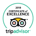 Tripadvisor - 2018 Certificate of Excellence